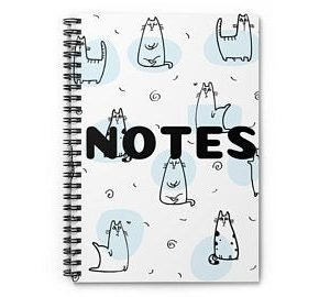 Cat Lovers Take Notes Too – Spiral Notebook / Journal – Ruled Line