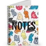 Colorful Cats – Spiral Notebook – Ruled Line
