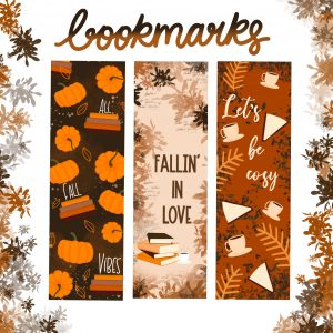 Fall Bookmarks | Set of 3 Bookmarks | Fall Bookish Gift Bookmarks By Scintillare